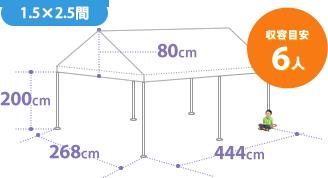 テントのサイズ6人