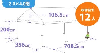 テントのサイズ12人
